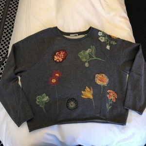 Zara Embroidered Cropped Jumper